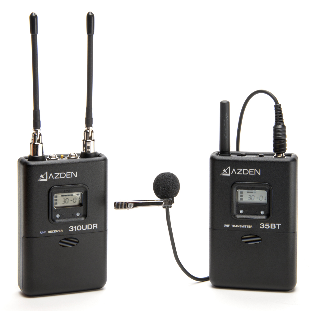 Azden 310LT UHF On-Camera Body-Pack System 566.125-589.875 MHz Tx-Rx Kit