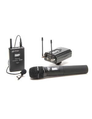 Azden 330LH UHF On-Camera Hand-Held & Body-Pack System 566.125-589.875 MHz Tx-Rx Kit