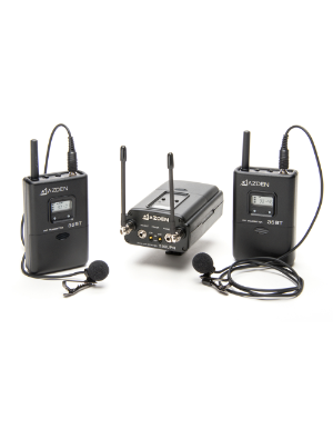 Azden 330LT UHF On-Camera Dual Body-Pack System 566.125-589.875 MHz Tx-Rx Kit
