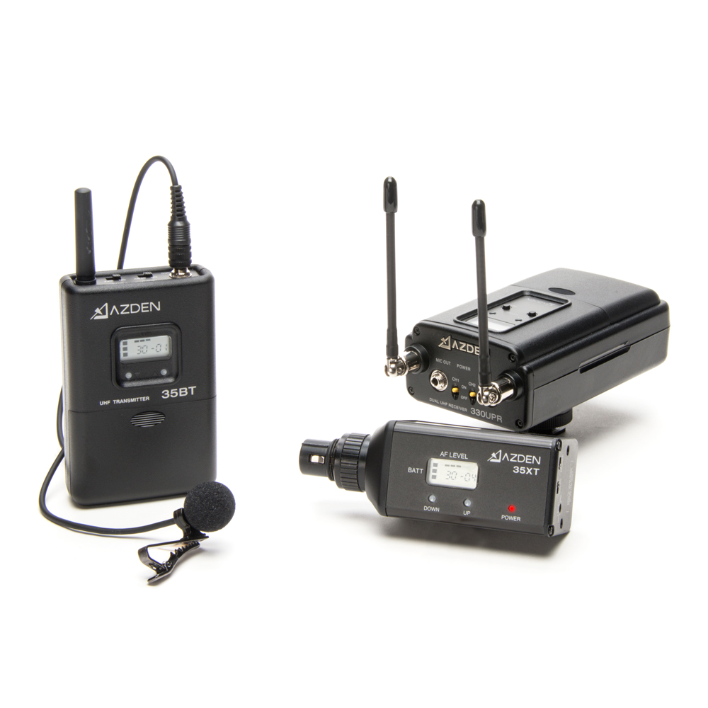 Azden 330LX UHF On-Camera Plug-In & Body-Pack System 566.125-589.875 MHz Tx-Rx Kit
