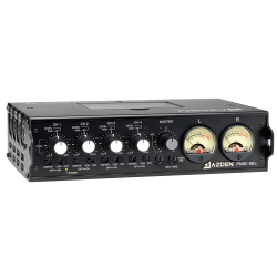 Azden FMX-42A 4-Channel Portable Mic/Line Mixer with 10-Pin Camera Return