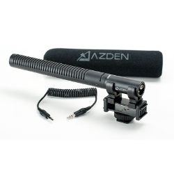 Azden SGM-DSLR Broadcast Shotgun Microphone for DSLR Cameras 3.5mm LR-44 Battery