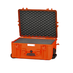 HPRC 2600W - Wheeled Hard Case with Cubed Foam (Orange)
