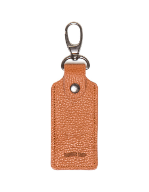 Barber Shop Leather Keyring