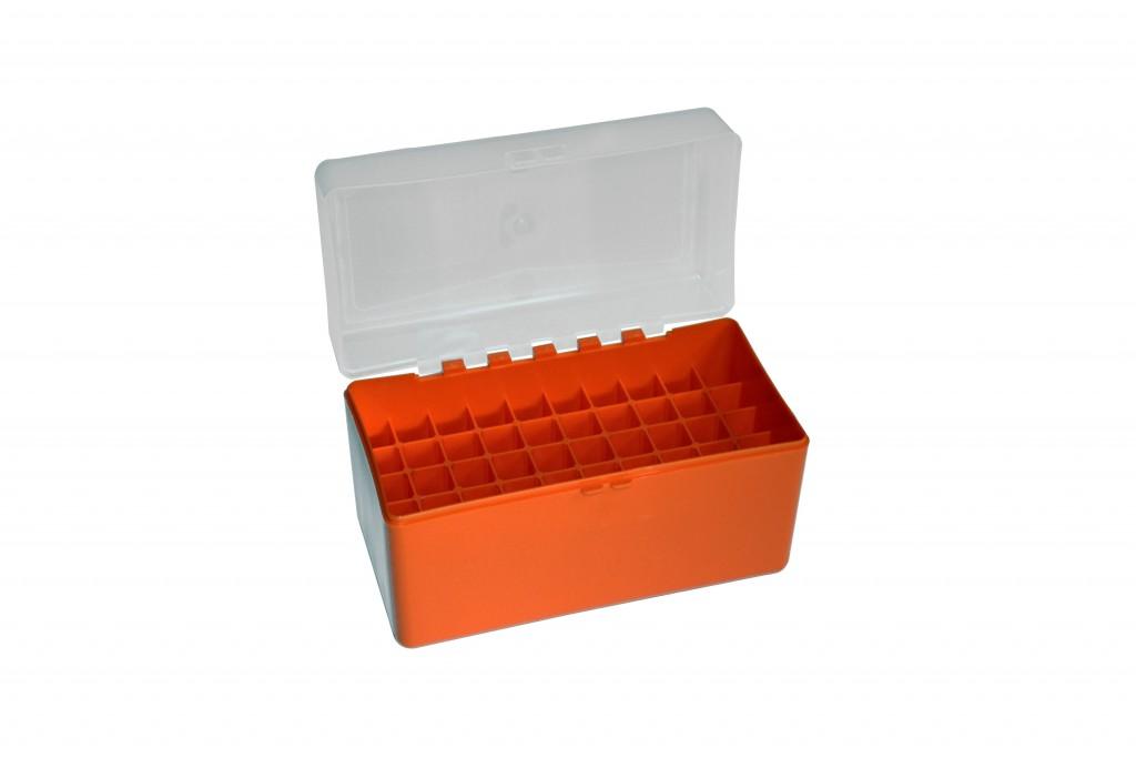Megaline Ammo Box-50 Bullets C 30.06 Orange/Transparent **