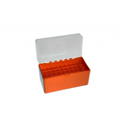 Megaline Ammo Box-50 Bullets C 30.06 Orange/Transparent **