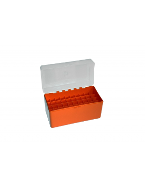 Megaline Ammo Box-50 Bullets Cal 6mm Orange/Transparent **