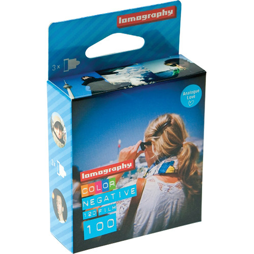 Lomography 100 Colour Film (120 Roll, 3 Pack)