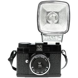Lomography Diana Mini 35mm Camera & Flash (Petite Noire)