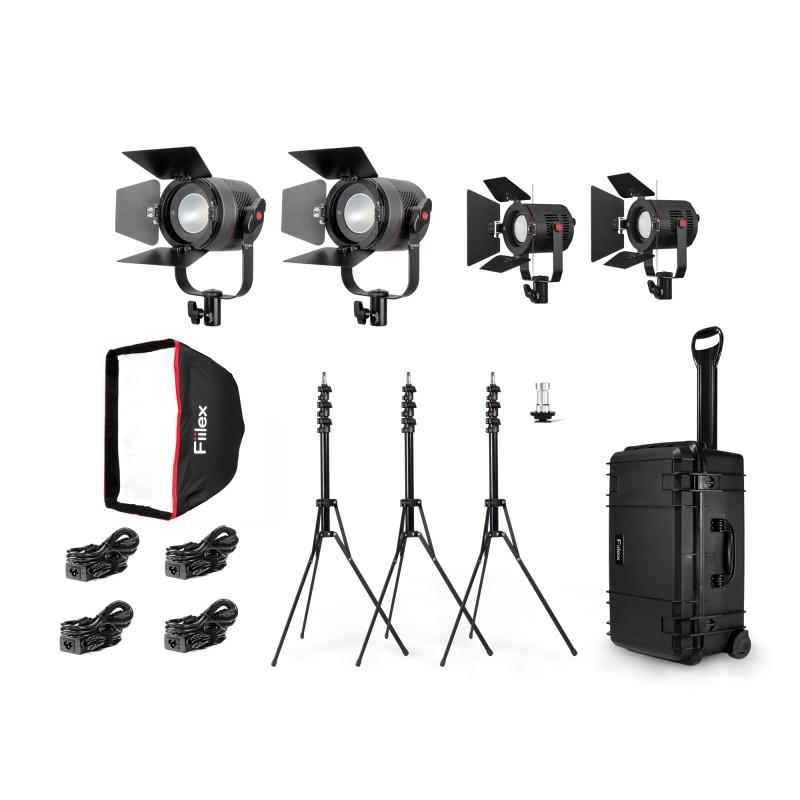 Fiilex K411: Pro Travel Kit (2x P360 Pro & 2x P180)