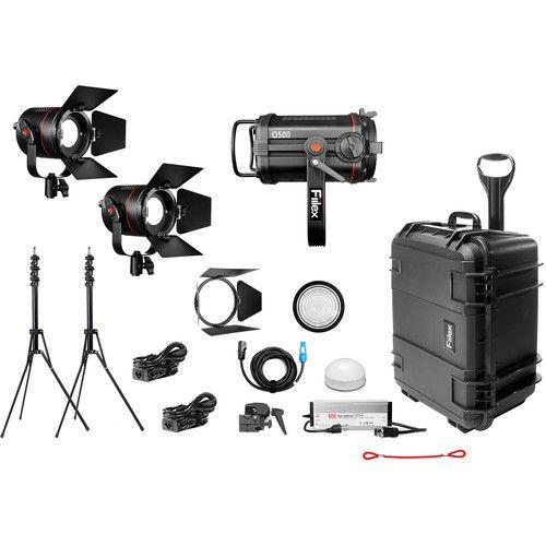 Fiilex X312 Gaffer's Kit (1x Q500-DC/2x P360 Pro Plus)