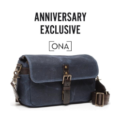 ONA Bowery - Canvas Camera Bag Navy Blue