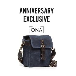 ONA The Bond Street - Canvas Camera Bag - Navy Blue