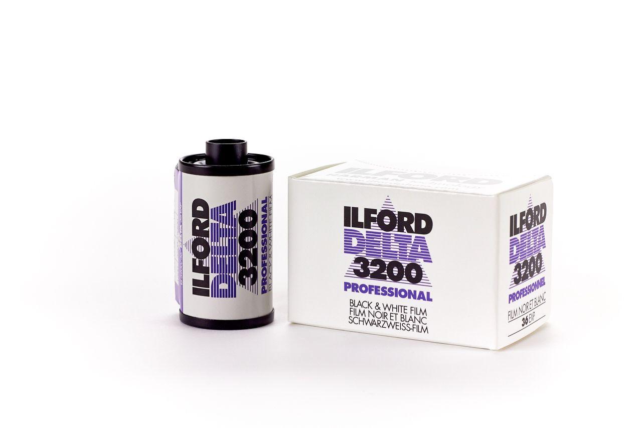 Ilford Delta 3200 ISO PROFESSIONAL 35mm 36 Exposure Black & White Film