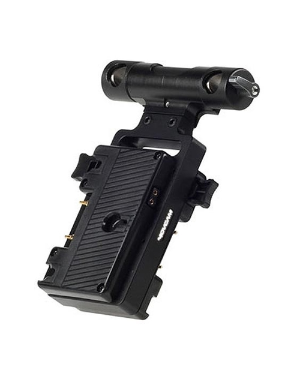Movcam Gold-Mount Battery Bracket With 15mm Rod Clamp