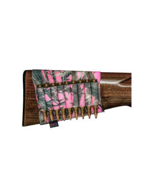 Grovtec Buttstock Cartridge Shell Holder Rifle Open Style (TrueTimber Pink Camo)