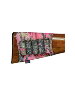 Grovtec Buttstock Cartridge Shell Holder Shotgun Open Style (TrueTimber Pink Camo)