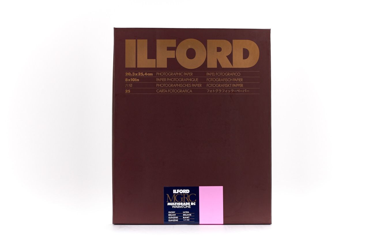 Ilford Multigrade RC Warmtone Glossy 20.3x25.4cm 25 Sheets MGRCWT1M