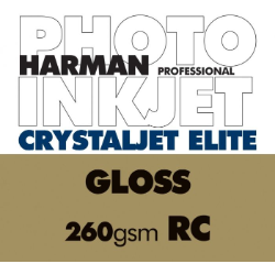 Harman Crystaljet Elite 260gsm Gloss 43.2cmx30.5m (17
