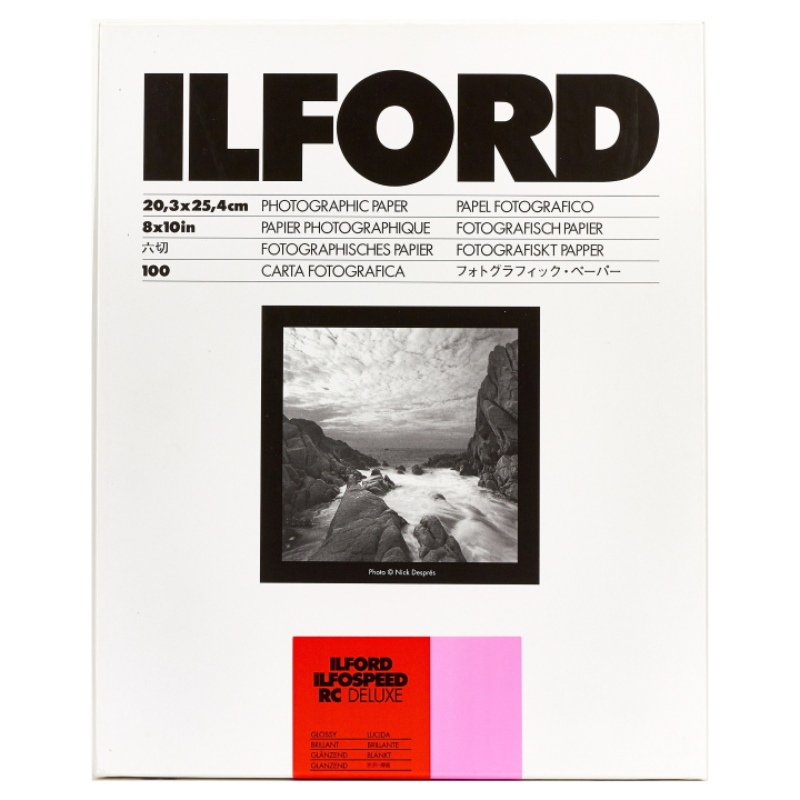 Ilford Ilfospeed RC Deluxe Glossy Grade 3 20.3x25.4cm 100 Sheets ISRC31M