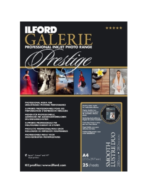 Ilford Galerie Smooth Lustre Duo (280gsm) 8.3x11.7