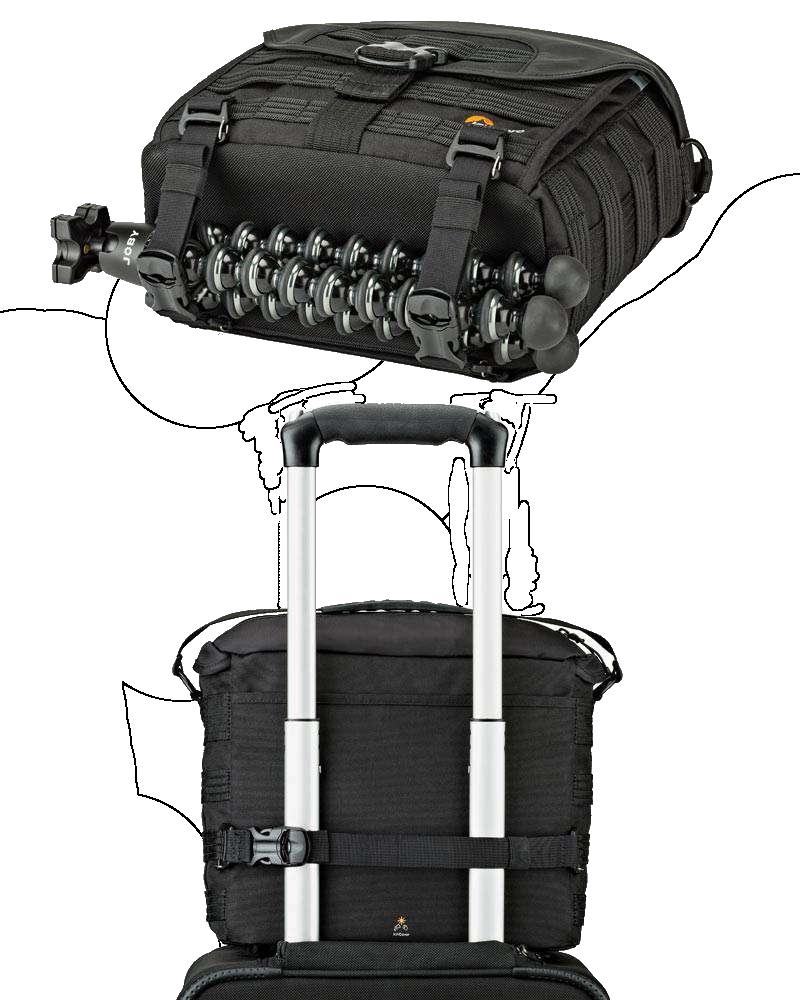 Lowepro Protactic Sh 180 Aw Shoulder Bag Black 680962 Cr 120 Smart Attachment System