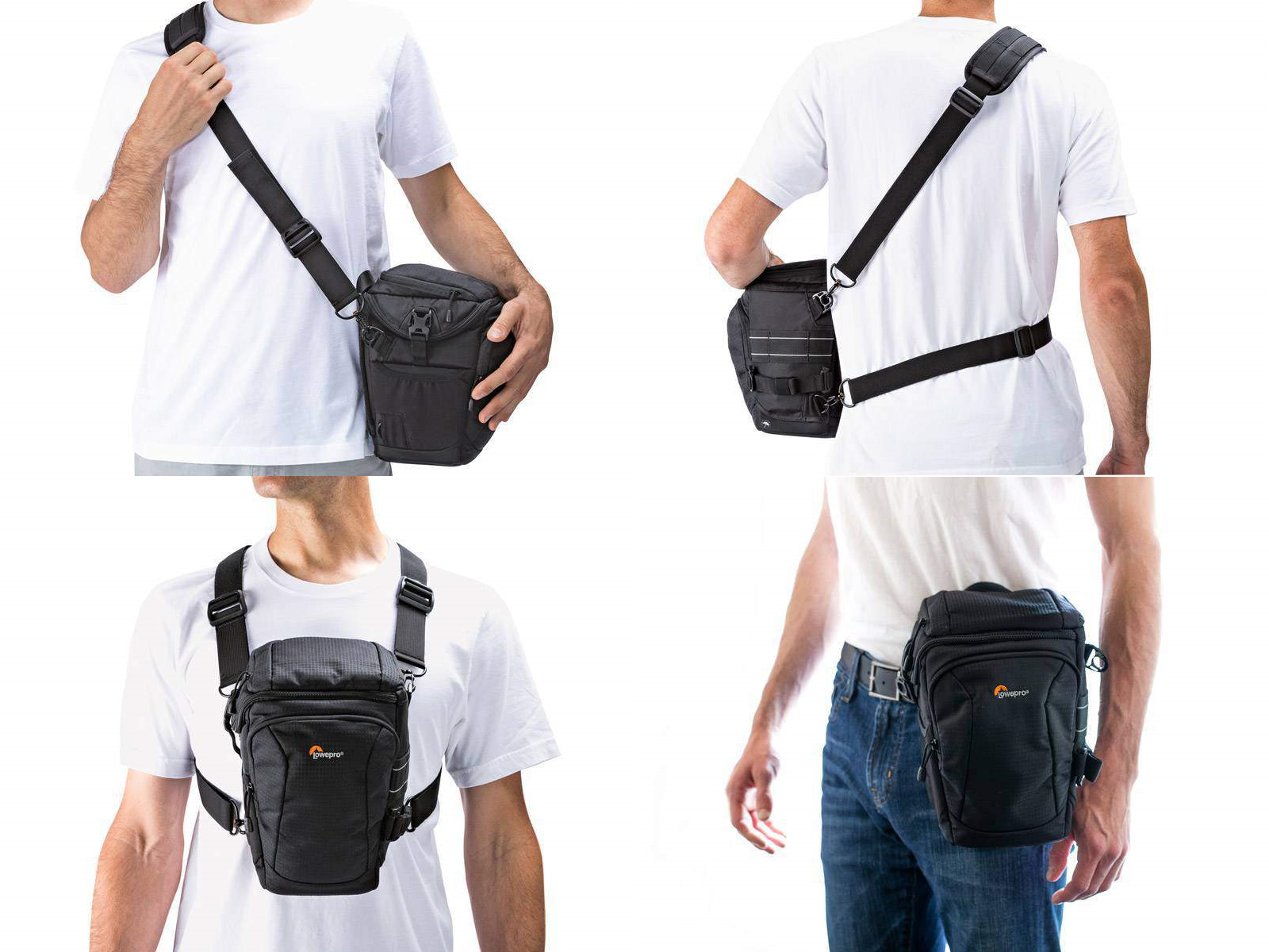Lowepro Toploader Pro 75 Aw Ii Holster Bag Black 680891 Cr Zoom 45 Wear 4 Ways