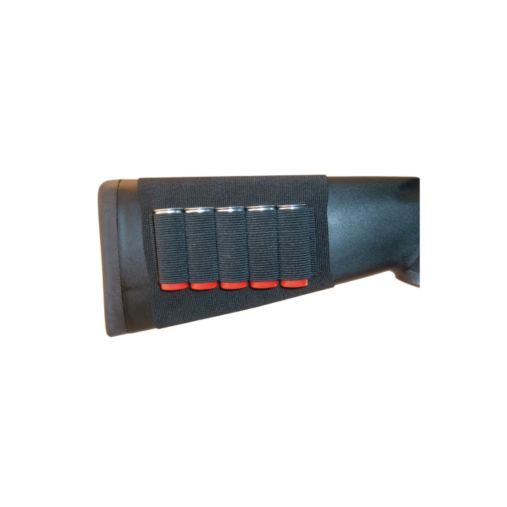 Grovtec Buttstock Cartridge Shell Holder for Shotgun Open Style – 5 Loops