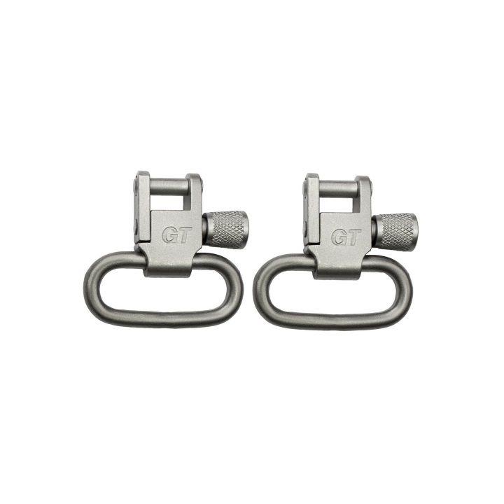 Grovtec Locking Swivels Satin Nickel Plated - 1
