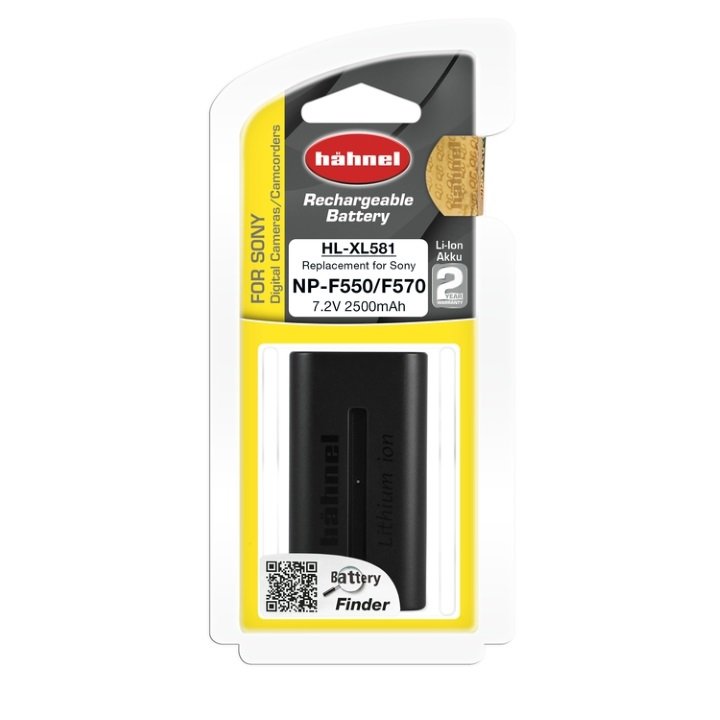 Hahnel NP-F550 2500mAh 7.2V Battery for Sony