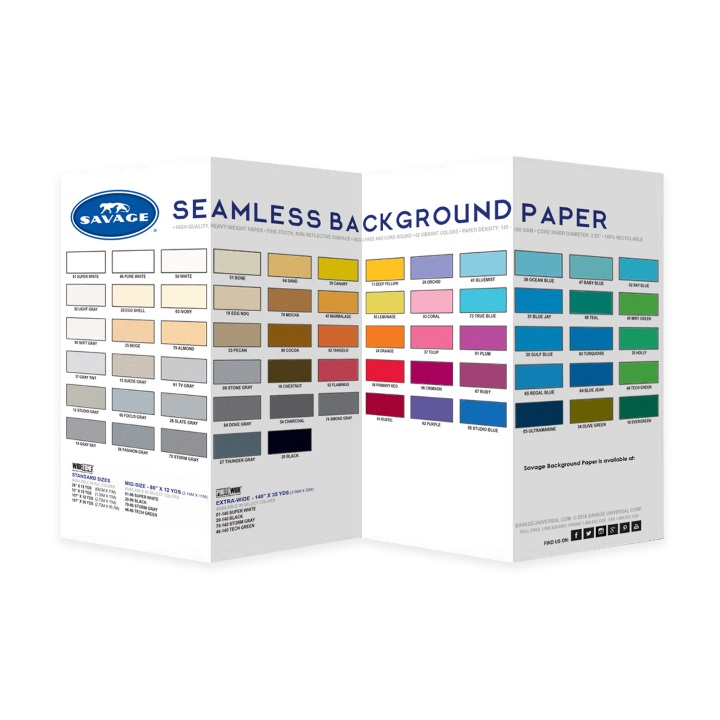 Savage Colour Swatch Book - All Colours