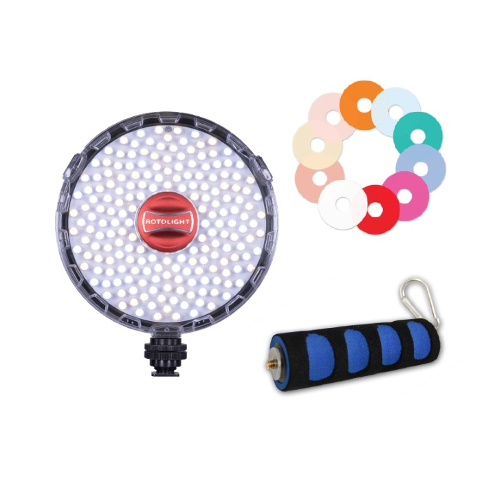 Rotolight Neo 2 Bundle with Colour Filter Pack and Grip