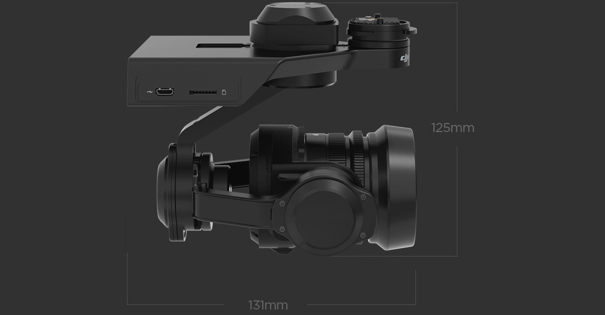 DJI Zenmuse X5R Raw 4K Camera, Gimbal and Lens