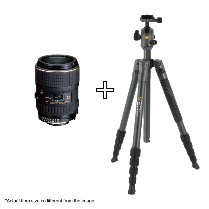 Tokina 100mm f/2.8 PRO DX Lens For Canon + Vanguard VEO 2 235AB Tripod