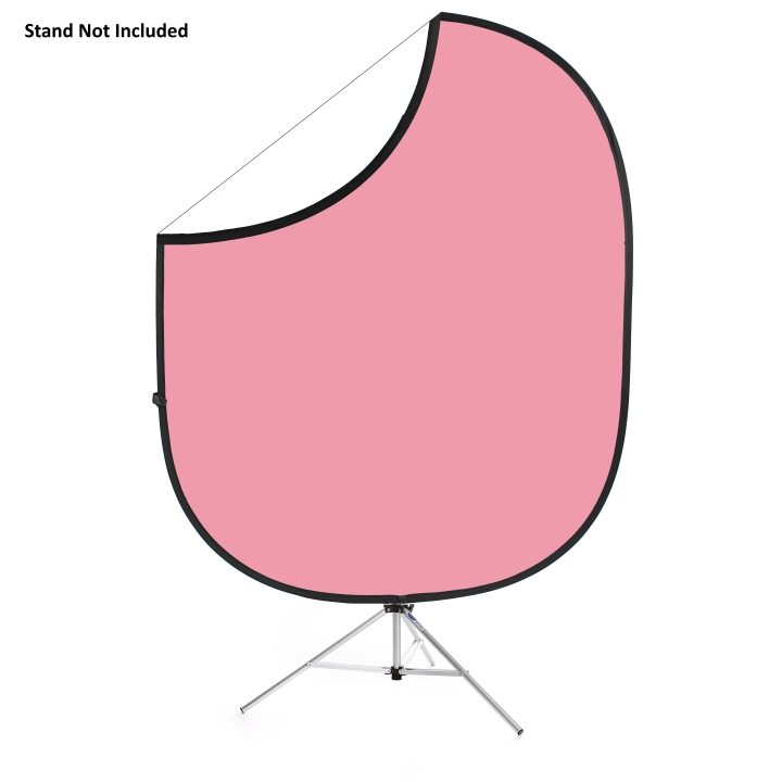 Savage Folding Light Pink/White Collapsible 1.52m x 1.83m Backdrop