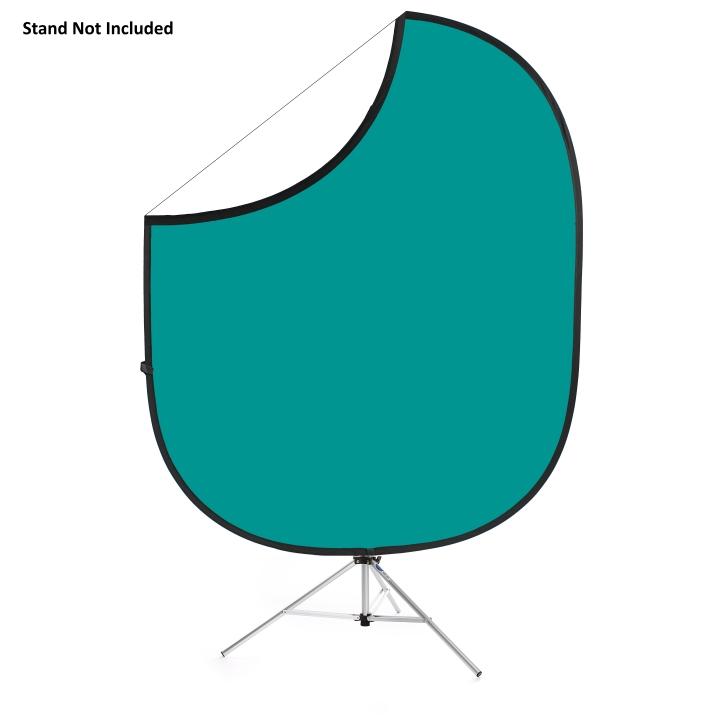 Savage Folding Teal/White Collapsible 1.52m x 1.83m Backdrop