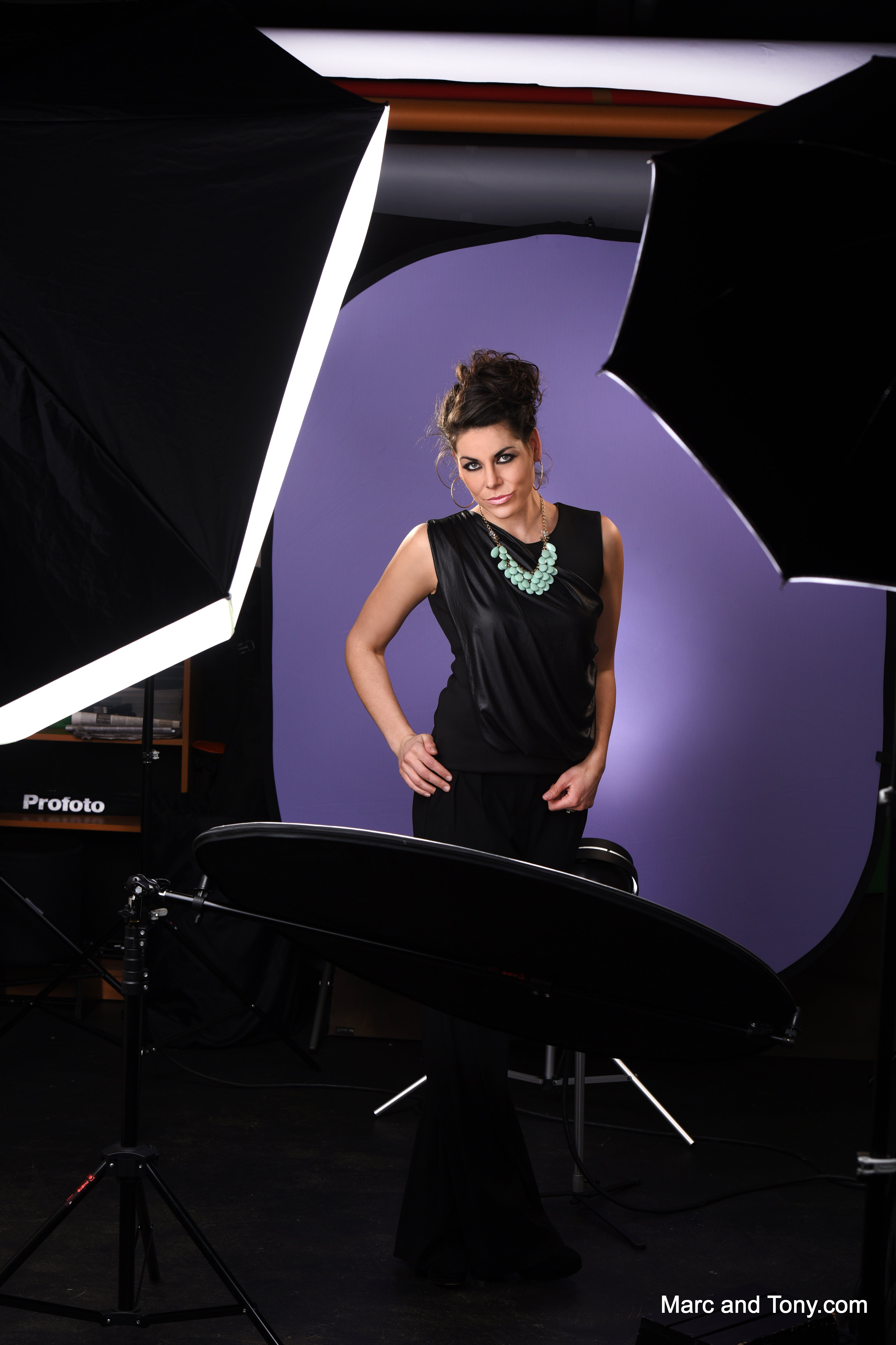 Savage Folding Light Purple/White Collapsible 1.52m x 1.83m Backdrop