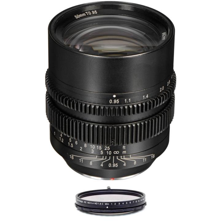 SLR Magic HyperPrime Bundle 50mm T0.95 lens & 62mm variable ND (II) MFT Mount