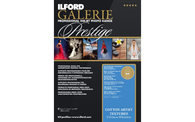 ILFORD GALERIE COTTON ARTIST TEXTURED 310GSM A2 25 SHEETS