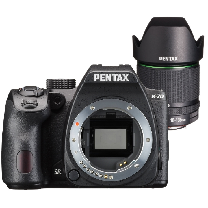 Pentax K-70 Body (Black) with DA 18-135mm f/3.5-5.6 WR Lens