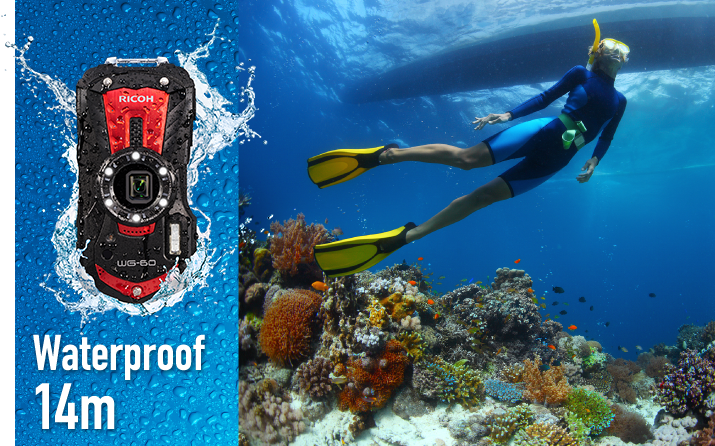 Ricoh WG-60 Compact Camera Waterproof up to 14m