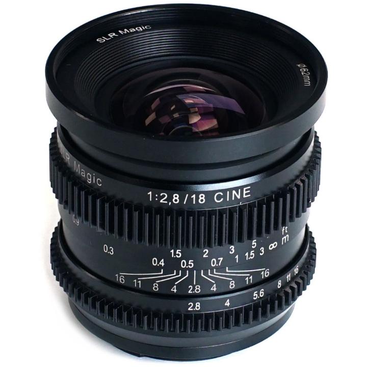 SLR Magic CINE 18mm F/2.8 lens E Mount