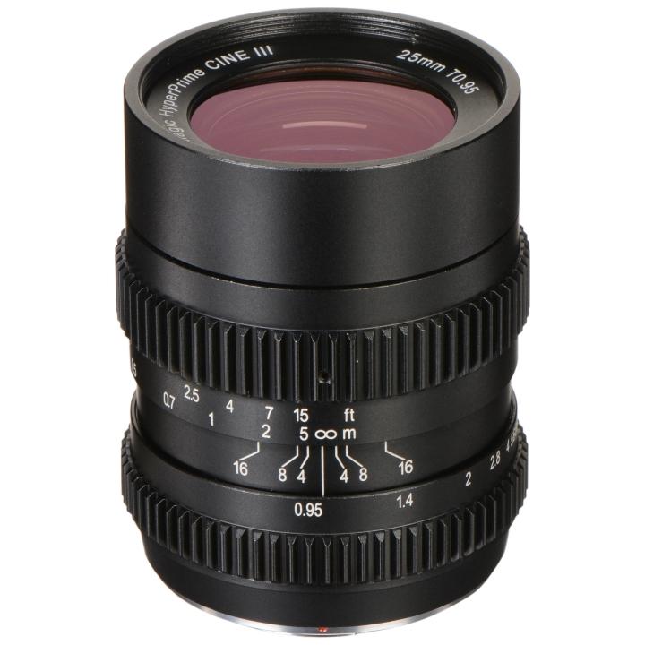 SLR Magic HyperPrime CINE 25mm T0.95 (III) lens MFT Mount