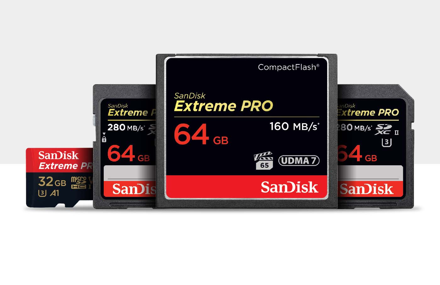 SD Cards, Micro SD Cards, Compact Flash Cards, C Fast Cards, SSD Drives, Flash Drives