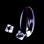 Fluorite Crystal Lens
