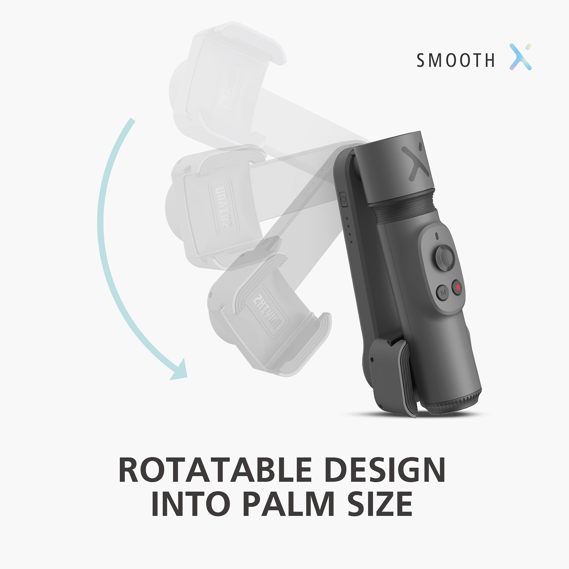 Rotatable Design that fits into palm size