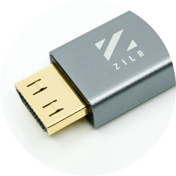 ZILR HDMI CABLE Type A Connection Zoom-in