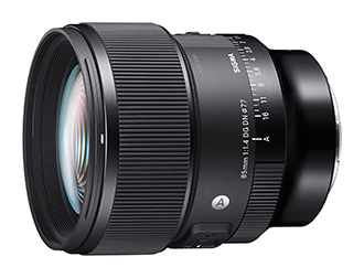 Sigma 85mm F1.4 Lens_sideways_without_hood