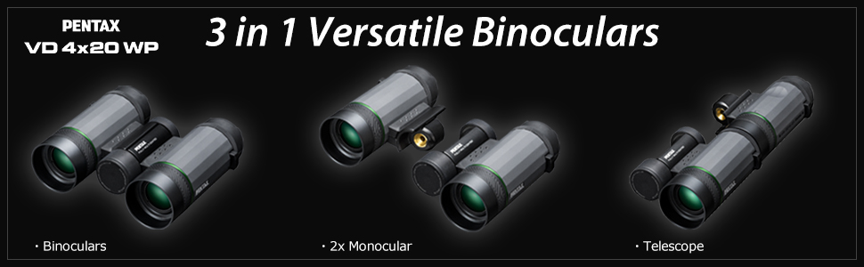 Pentax VD 4×20 WP Three-in-one Binoculars_features_4